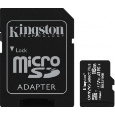 Kingston Canvas Select Plus microSDHC 16GB U1 V10 A1 with Adapter