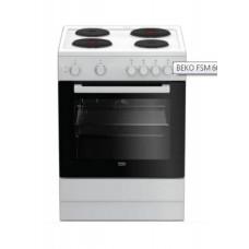 BEKO FSM 66001GW Ηλεκτρικές κουζίνες