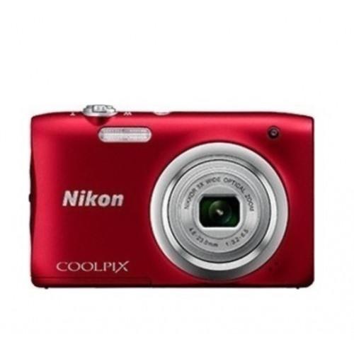 NIKON A100 COOLPIX RED Compact Camera