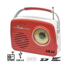 AKAI APR-11R RETRO ΑΝΑΛΟΓΙΚΟ Ραδιοφωνα Red