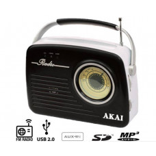 AKAI APR-11B RETRO ΑΝΑΛΟΓΙΚΟ Φορητα Ραδιο Black