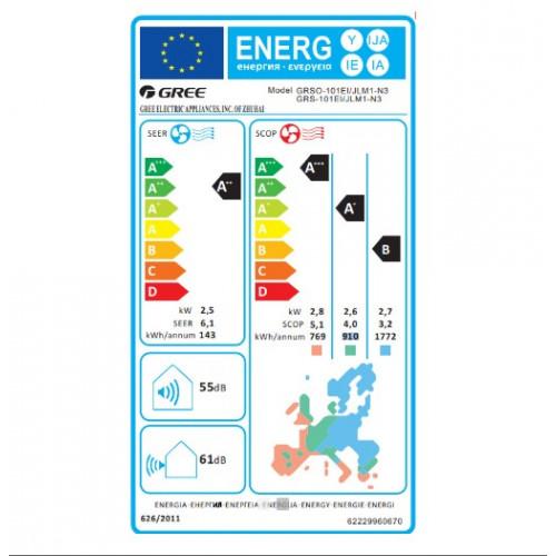 Gree Lomo GRS 101 EI/JLM1-N3 Κλιματιστικά Τοίχου