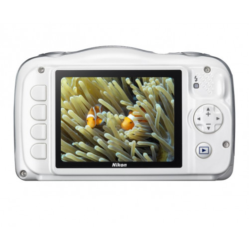 NIKON W100 Backpack Kit White Compact Camera