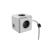 Allocacoc PowerCube Extended USB 1.5m Γκρι