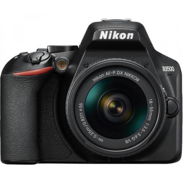 NIKON D3500 + AF-P 18-55 DX KIT Dslr Black (VBA550K002)