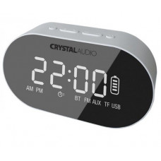 CRYSTAL AUDIO BTC1W BT SPEAKER ALARM CLOCK RADIO ΛΕΥΚΟ BTC1W