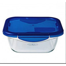 Pyrex Φαγητοδοχείο Τετράγωνο Cook & Go 1900ml Μπλε