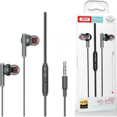 XO EP32 In-ear Handsfree με Βύσμα 3.5mm Μαύρο